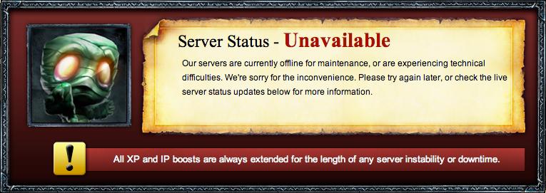 Server Maintenace και patch 7.23