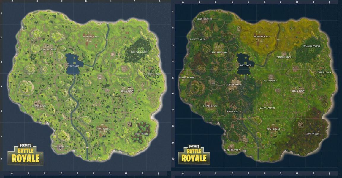 Αυτό είναι το νέο map του Fortnite: Battle Royale.