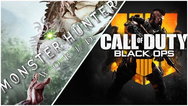 Κυκλοφορήσαν για PC, η Open beta του Black OPS 4 και το Monster Hunter World