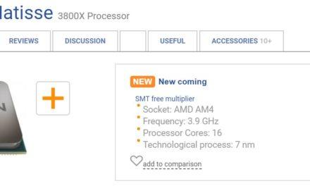 Εντοπίστηκε ο AMD Ryzen 9 3800X