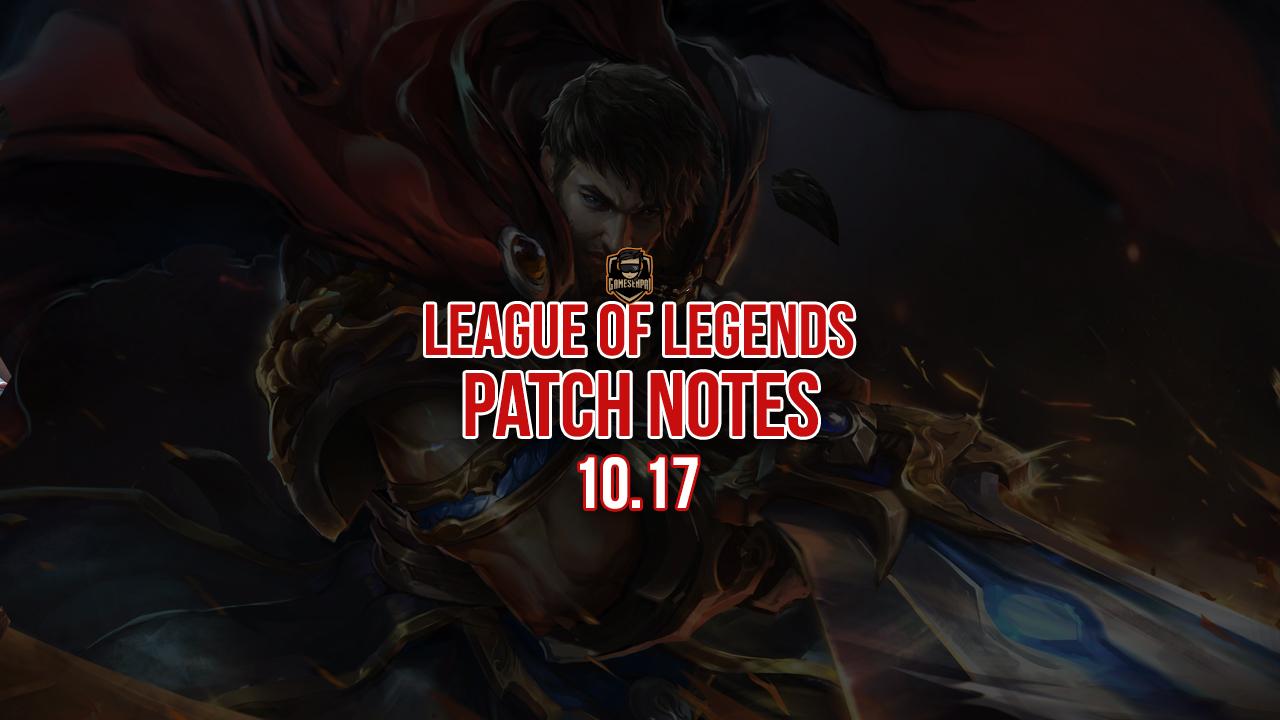 League Of Legends patch 10.17 notes