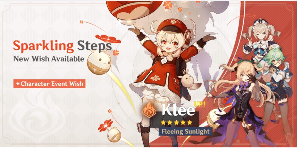 Επιστροφή για το banner της Klee στο Genshin Impact